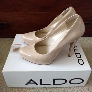 ALDO Pumps Beige Nude Heels Womens 9 MOOS-35